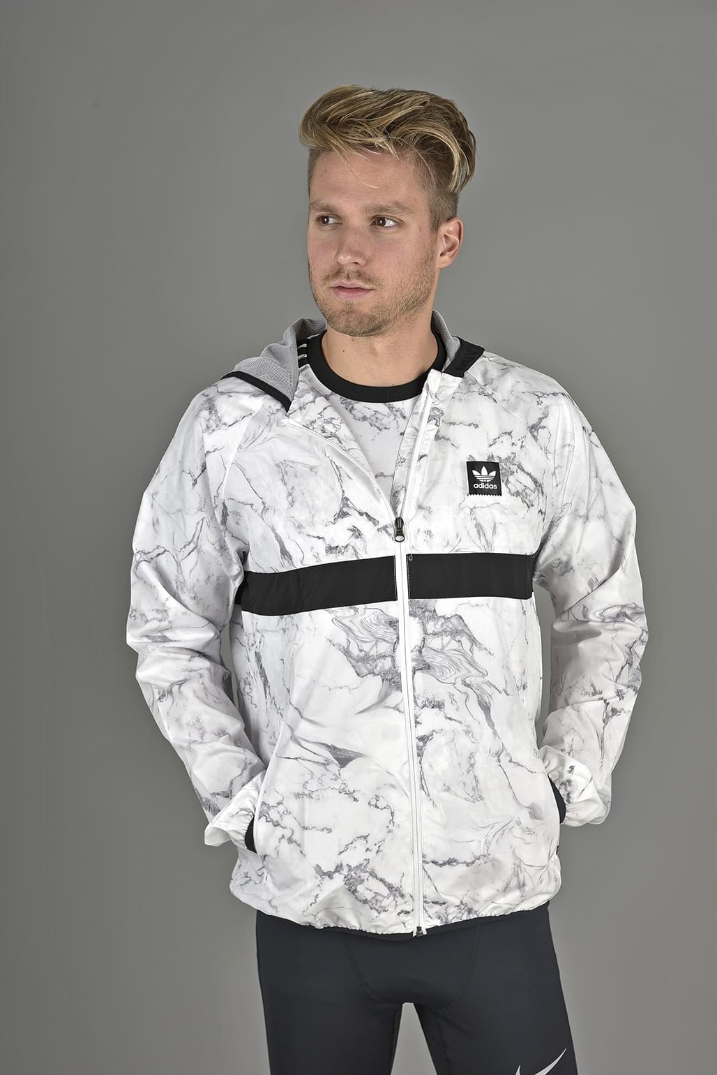 Adidas MARBLE AOP BB PACKABLE WINDJACKET